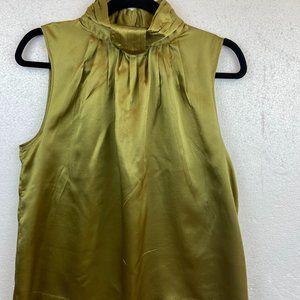 Kenar 100% Silk Sleeveless Top Blouse